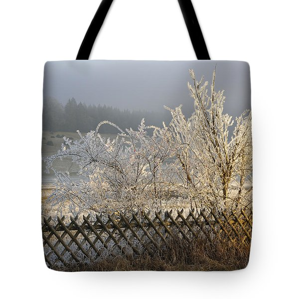 Hoarfrost in winter Tote Bag by Matthias Hauser