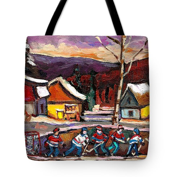 Hockey 4 Tote Bag by Carole Spandau