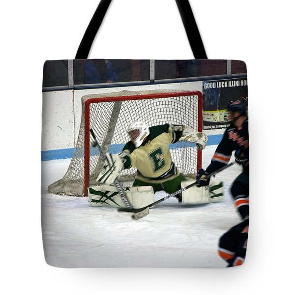 Hockey Off The Handle Tote Bag by Thomas Woolworth