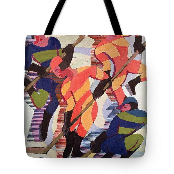 Hockey Players Tote Bag by Ernst Ludwig Kirchner