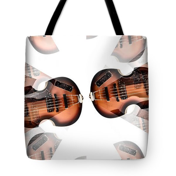 Hofner Bass Abstract Tote Bag by Bill Cannon