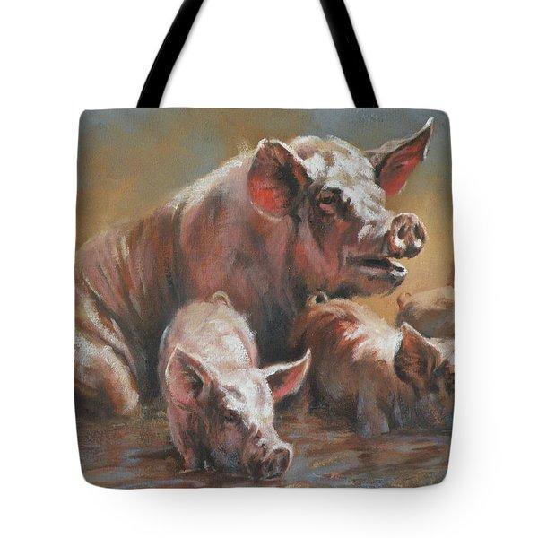 Hog Heaven Tote Bag by Mia DeLode