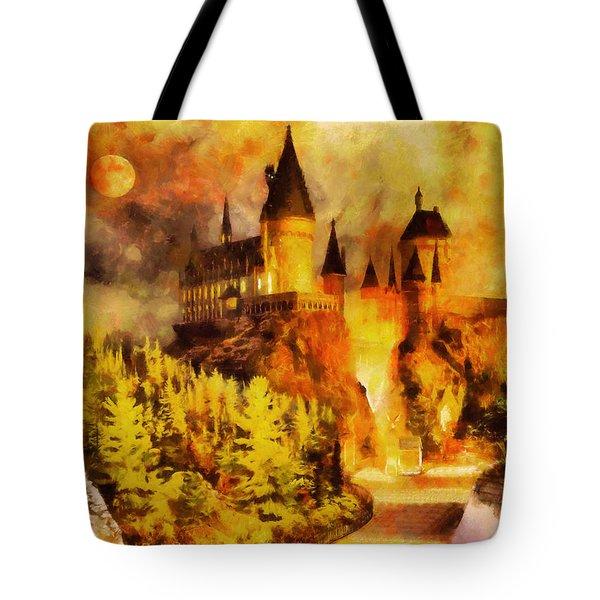 Hogwarts college Tote Bag by George Rossidis