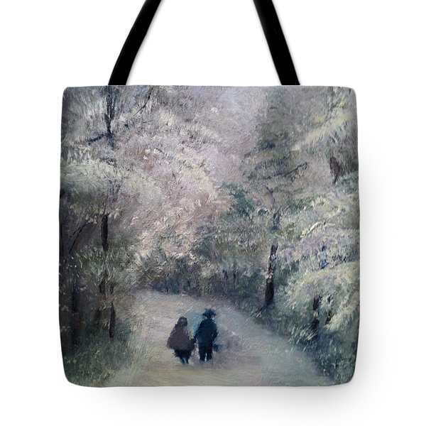Hold My Hand Tote Bag by Gail Kirtz