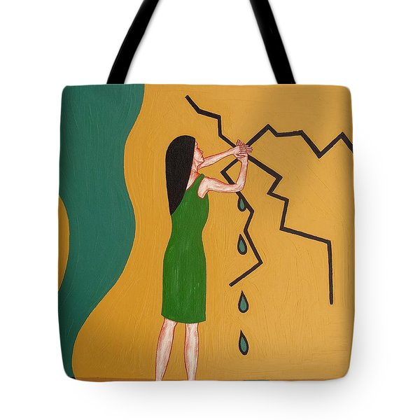 HOLDING BACK THE FLOOD Tote Bag by Patrick J Murphy