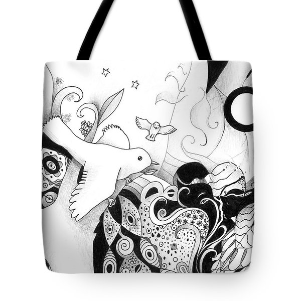 Holding It In Your Hands Tote Bag by Helena Tiainen