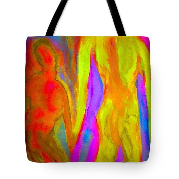 holding our hands Tote Bag by Hilde Widerberg