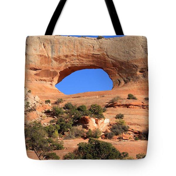 Hole In The Wall Tote Bag by Aidan Moran