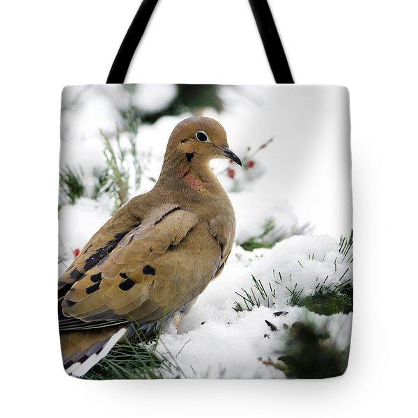 Holiday Dove Tote Bag by Christina Rollo