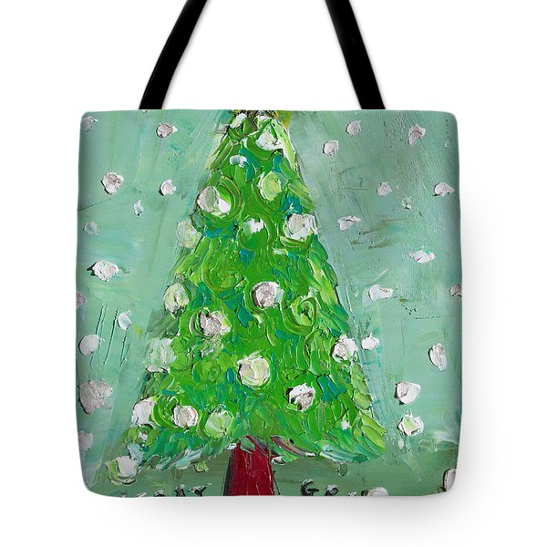 Holiday Greeting Tote Bag by Becky Kim