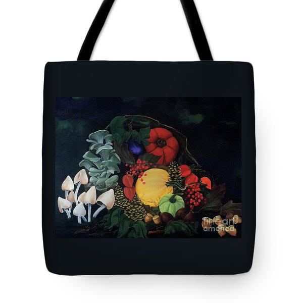 Holiday Harvest Tote Bag by D L Gerring