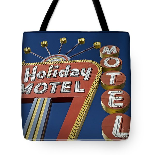 Holiday Motel Las Vegas Tote Bag by Edward Fielding