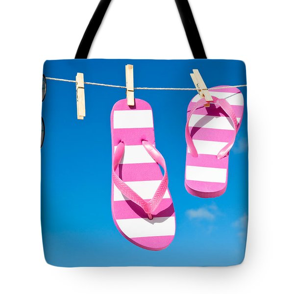 Holiday Washing Line Tote Bag by Amanda And Christopher Elwell