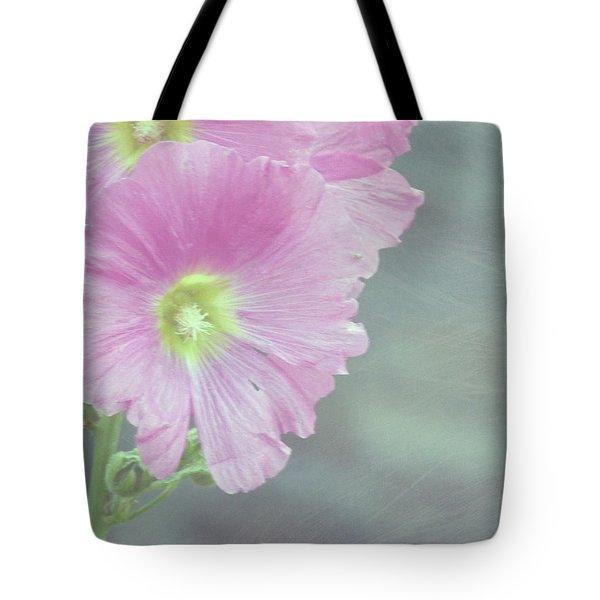 Hollyhock Tote Bag by Lynn Bolt