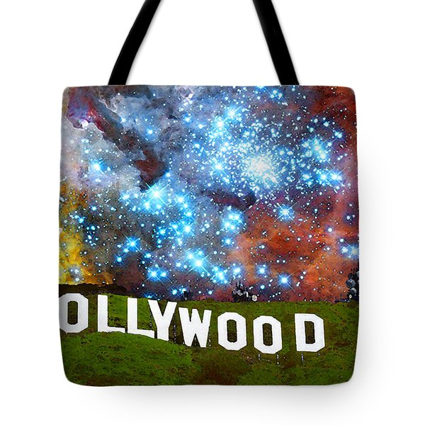 Hollywood 2 - Home Of The Stars By Sharon Cummings Tote Bag by Sharon Cummings