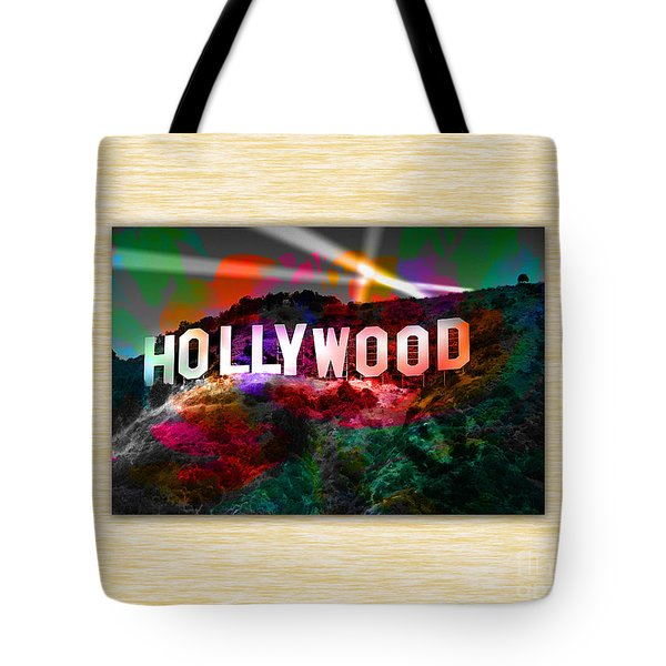 Hollywood Sign Tote Bag by Marvin Blaine