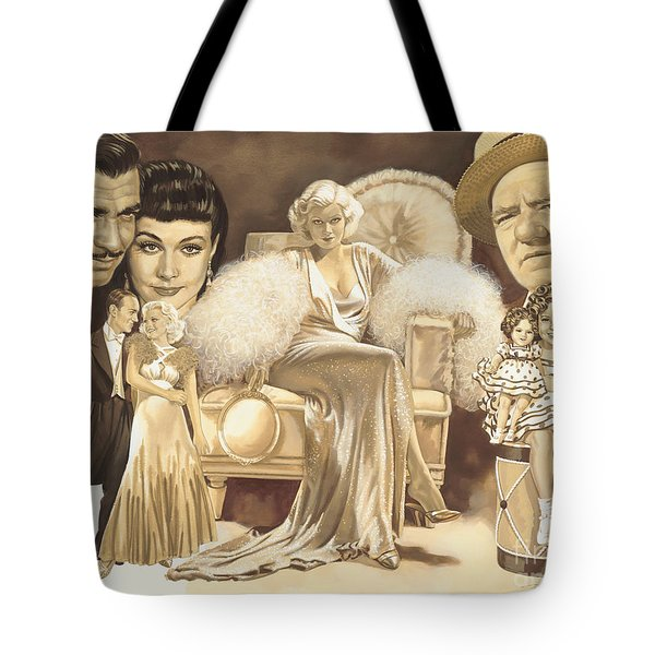 Hollywoods Golden Era Tote Bag by Dick Bobnick