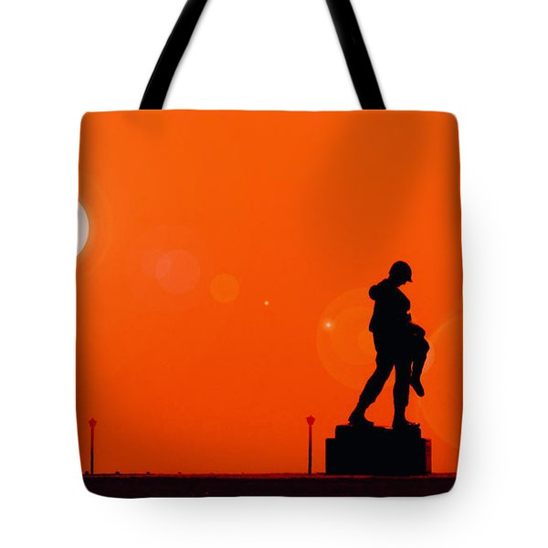Holocaust Memorial - Sunset Tote Bag by Nishanth Gopinathan