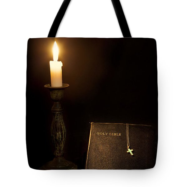 Holy Bible Tote Bag by Bill  Wakeley