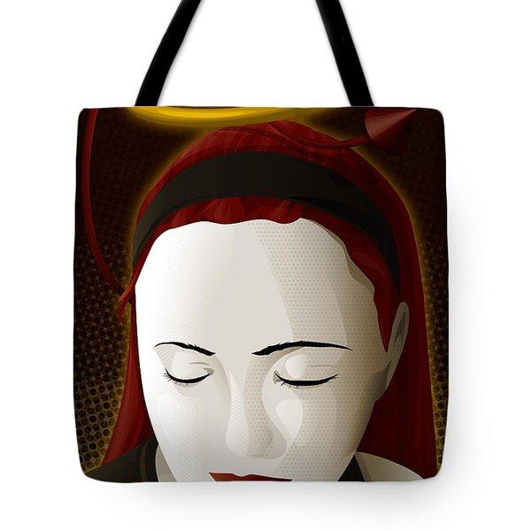 Holy Mary Tote Bag by Sandra Hoefer