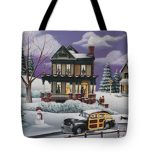 Home For The Holidays 2 Tote Bag by Catherine Holman