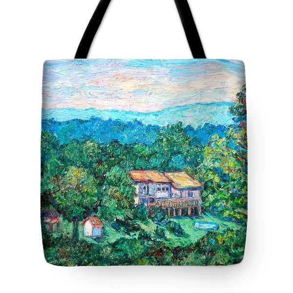 Home In The Hills Tote Bag by Kendall Kessler