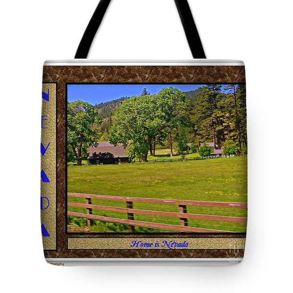 Home Is Nevada Tote Bag by Bobbee Rickard