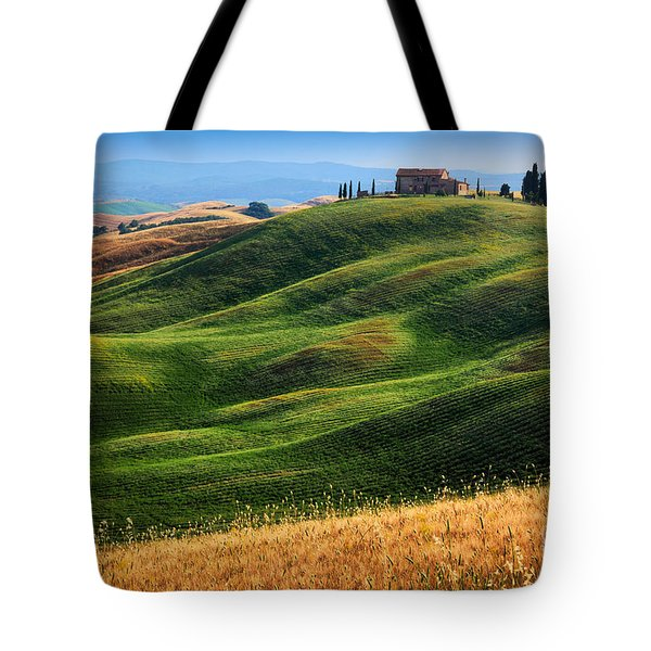 Home On The Hill Tote Bag by Inge Johnsson