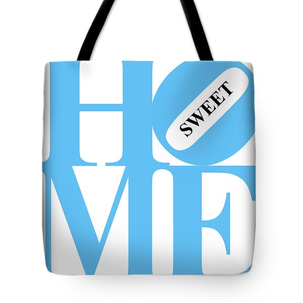 Home Sweet Home 20130713 Blue White Black Tote Bag by Wingsdomain Art and Photography