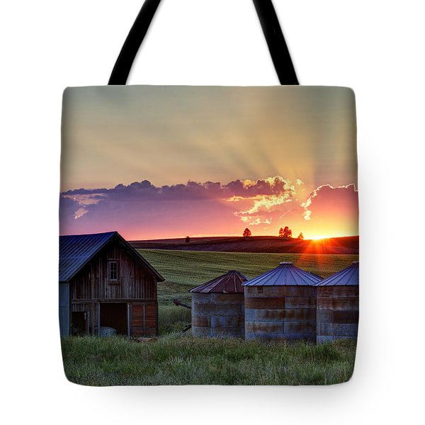 Home Town Sunset Tote Bag by Mark Kiver