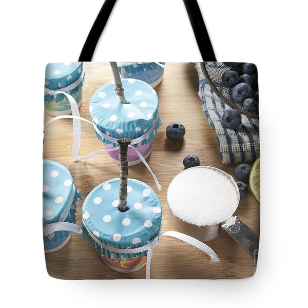 Homemade Blueberry Popsicles Tote Bag by Juli Scalzi