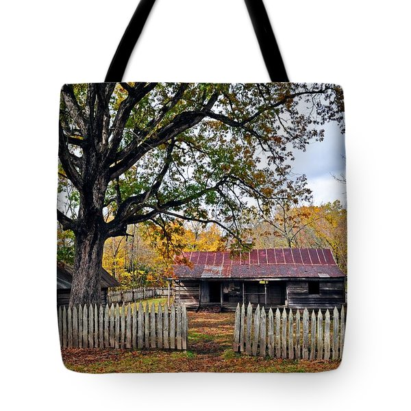 Homestead On The Buffalo Tote Bag by Marty Koch