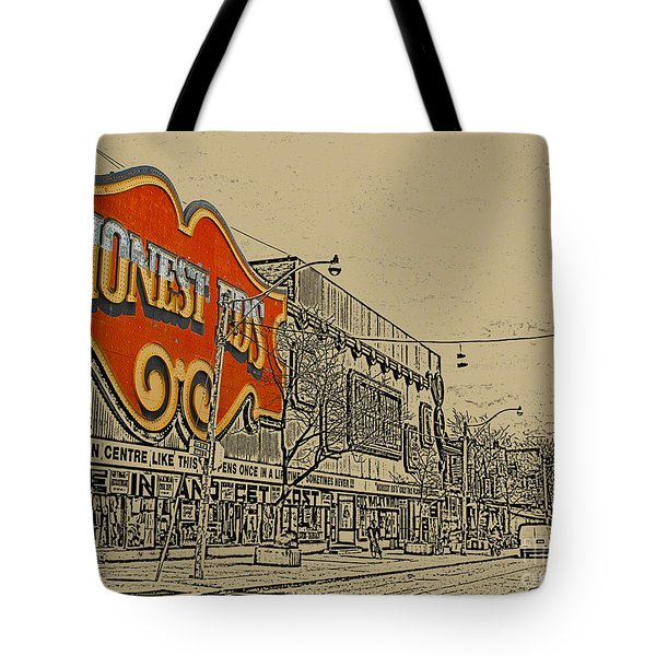Honest Eds On Markham Street Tote Bag by Nina Silver