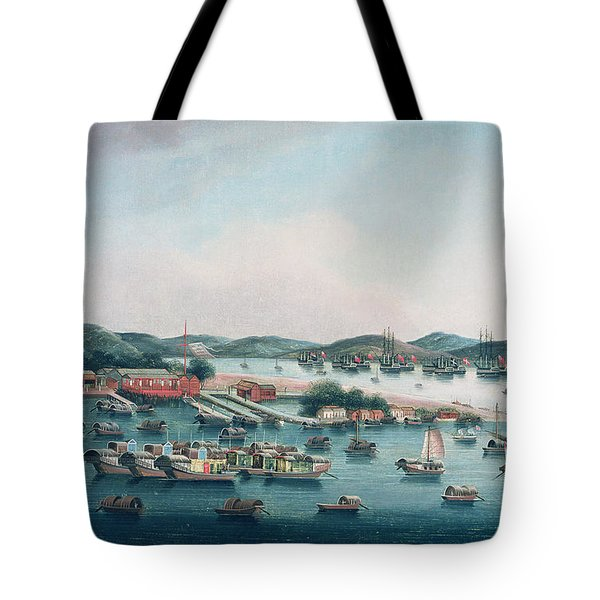 Hong Kong Harbor Tote Bag by Cantonese School