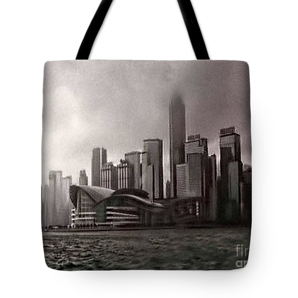 Hong Kong Rain 5 Tote Bag by Tom Prendergast