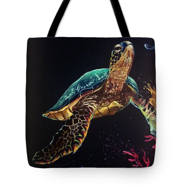 Honu's Reef Tote Bag by Marco Antonio Aguilar