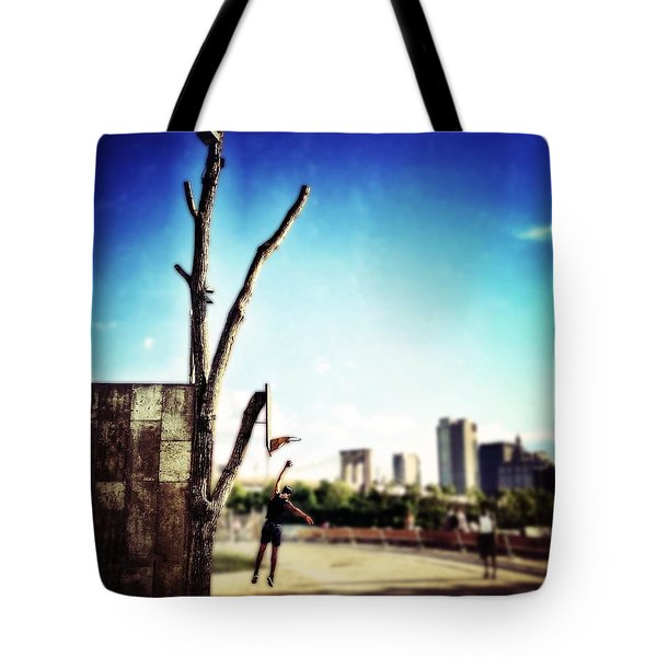 Hoopin' Tote Bag by Natasha Marco