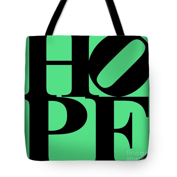 Hope 20130710 Black Green Tote Bag by Wingsdomain Art and Photography