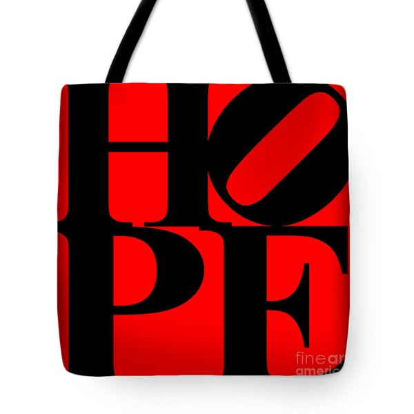 Hope 20130710 Black Red Tote Bag by Wingsdomain Art and Photography
