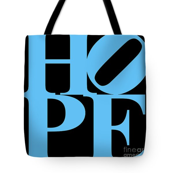 Hope 20130710 Blue Black Tote Bag by Wingsdomain Art and Photography