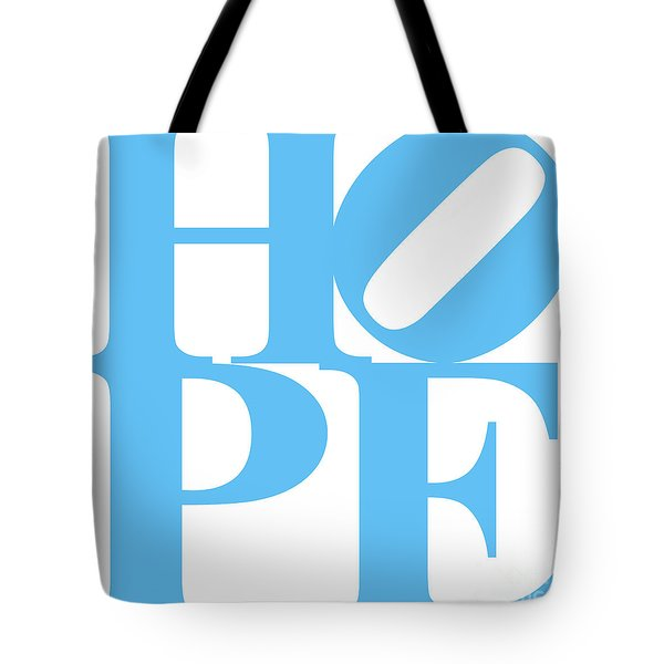Hope 20130710 Blue White Tote Bag by Wingsdomain Art and Photography