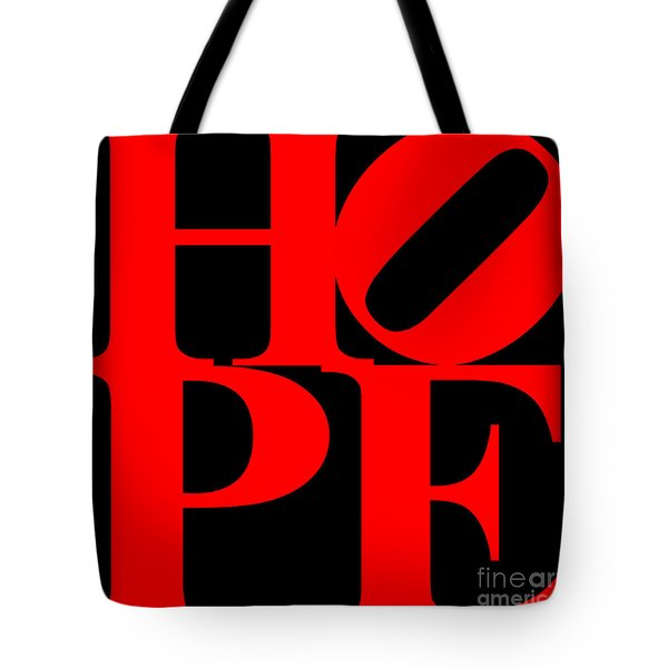 Hope 20130710 Red Black Tote Bag by Wingsdomain Art and Photography