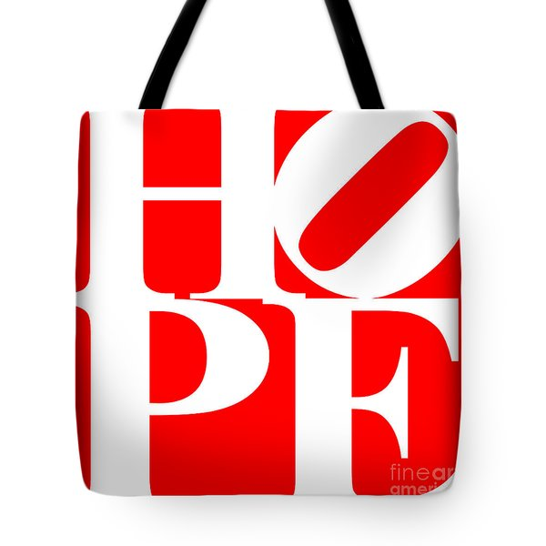 Hope 20130710 White Red Tote Bag by Wingsdomain Art and Photography