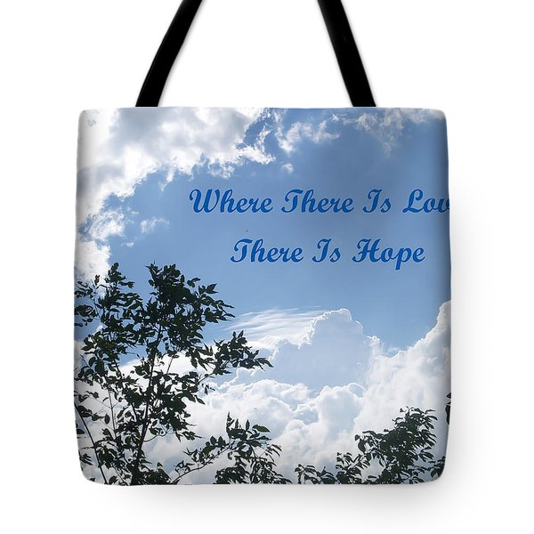 Hope Tote Bag by Aimee L Maher Photography and Art