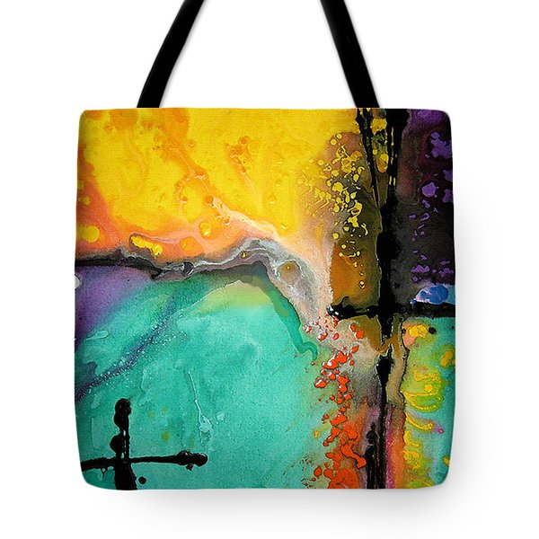 Hope - Colorful Abstract Art By Sharon Cummings Tote Bag by Sharon Cummings