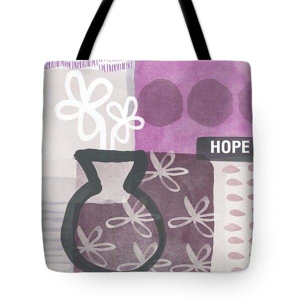Hope- Contemporary Art Tote Bag by Linda Woods