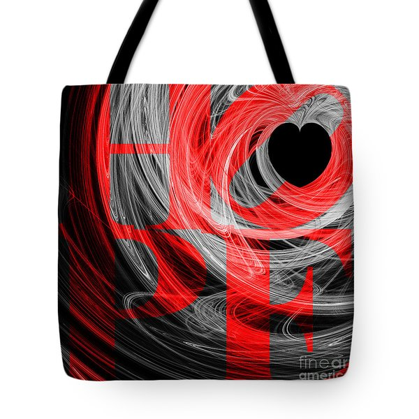 Hope Fractal Heart 20130710 V2b Tote Bag by Wingsdomain Art and Photography