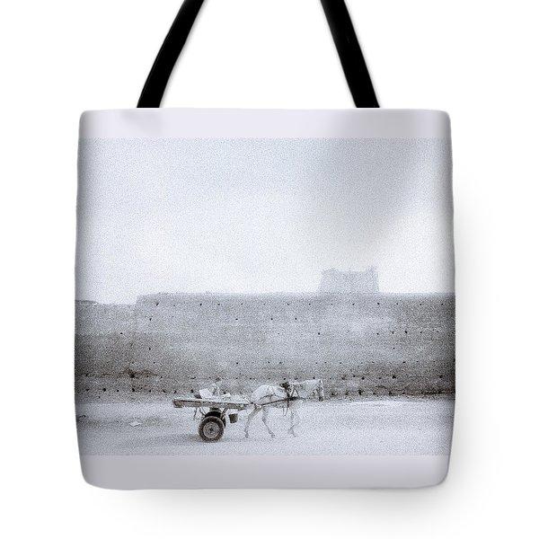 Horse And Cart Tote Bag by Shaun Higson