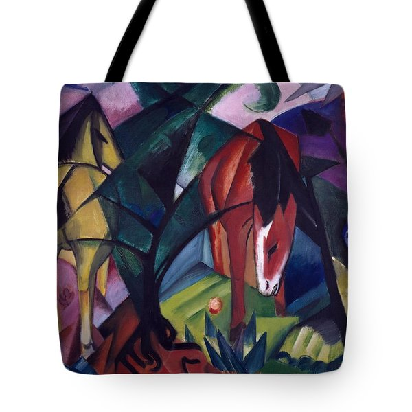 Horse And Eagle Tote Bag by Franz Marc