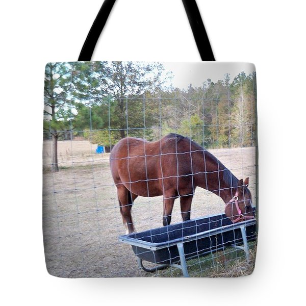 Horse Grazing Tote Bag by Joseph Baril